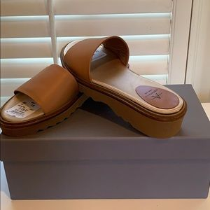 Aquatalia brown leather shoes